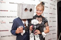 Festival Founder Heather Knight at the Robot Film Festival in NYC. Photo Credit: Daniel Pagel.