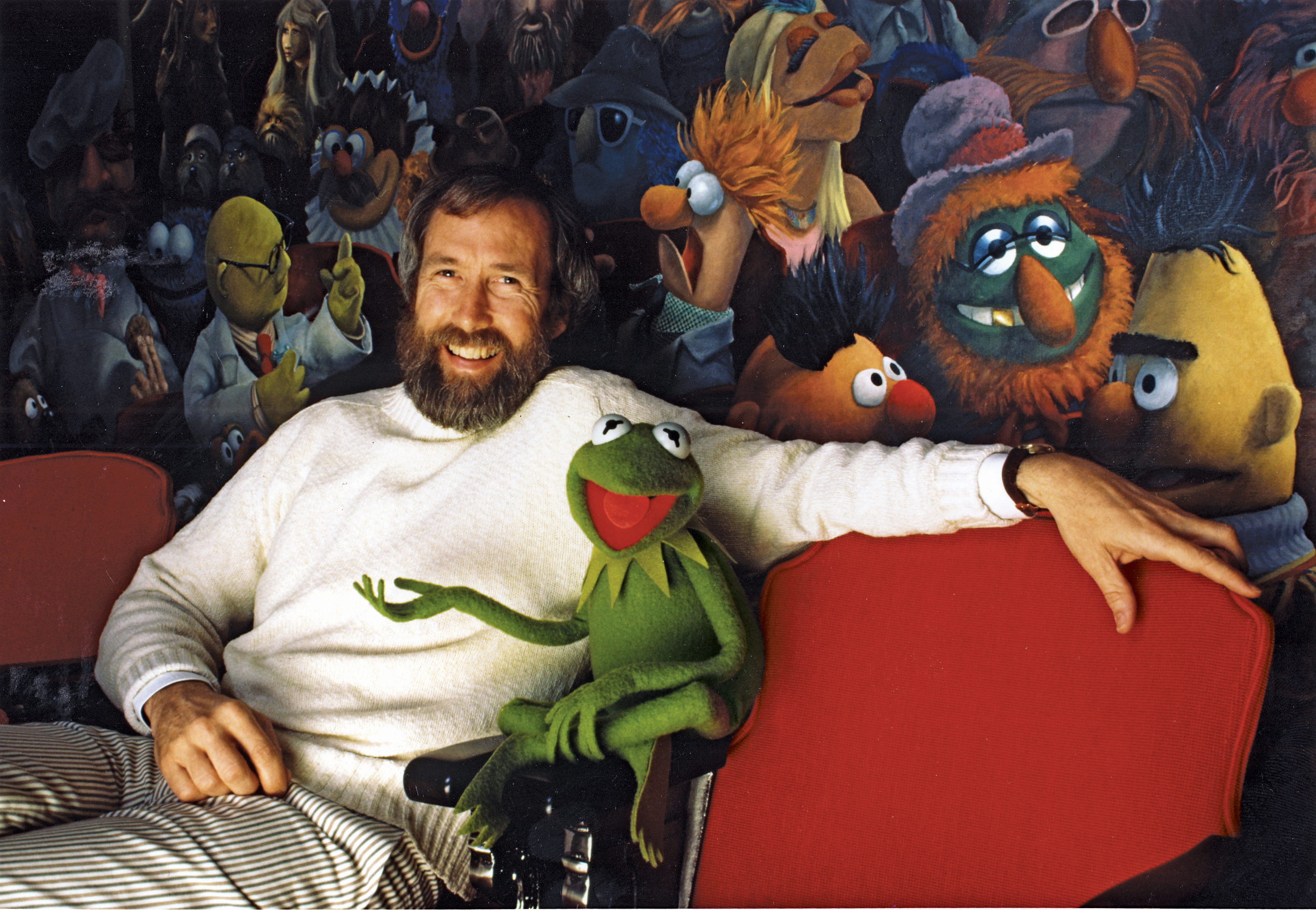 Henson and his characters. Photo by John E. Barrett, courtesy of The Jim Henson Company. Kermit the Frog (c)The Muppets Studio, LLC.
