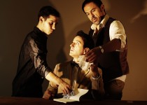 From left, David Riley, seated, Sebastian Galvez (Lorca), and right, Juan Carlos Lopez. Photo Credit: Sion Fullana.