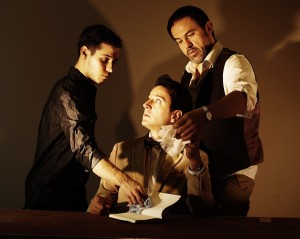 From left, David Riley, seated, Sebastian Galvez (Lorca), and right, Juan Carlos Lopez. Photo Credit: Sion Fullana.