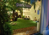 Park Here, a pop-up indoor park located at the Openhouse Gallery at 201 Mulberry Street in New York City. Photo Courtesy of: Park Here.