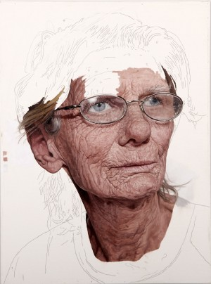 Artist Colin Chillag's portraits, like this one, are left unfinished on purpose. Photo Courtesy of: Colin Chillag.