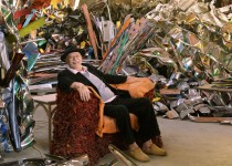 Pictured: Sculptor John Chamberlain. Photo Credit: Robert McKeever. Photo Courtesy of: Gagosian Gallery