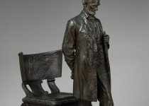 """Abraham Lincoln: The Man"" (""The Standing Lincoln"") statuette by Augustus Saint-Gaudens, currently on view at The Metropolitan Museum of Art in New York City. Photo Credit: The Metropolitan Museum of Art, New York."