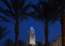 The Smith Center for the Performing Arts in Las Vegas at night. Photo Courtesy of: Geri Kodey.