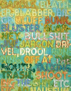 """Babble"" from the ""Thesaurus"" series by Mel Bochner. Photo Courtesy of Ben Strauss-Malcolm."