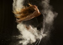"A photo of a dancer from Geraldine Lamanna's ""Powder Dance"" series. Photo Courtesy of: Geraldine Lamanna."