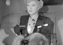 "Stella Adler as mob moll Claire Porter in W.S. Van Dyke's ""Shadow of the Thin Man"" (1941). Her hate rivaled Myrna Loy and her perfume ruffled William Powell. Photo Credit: Photofest."