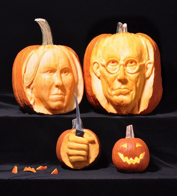 One of artist Scott Cummins' pumpkin carvings. Photo Courtesy of: Scott Cummins.