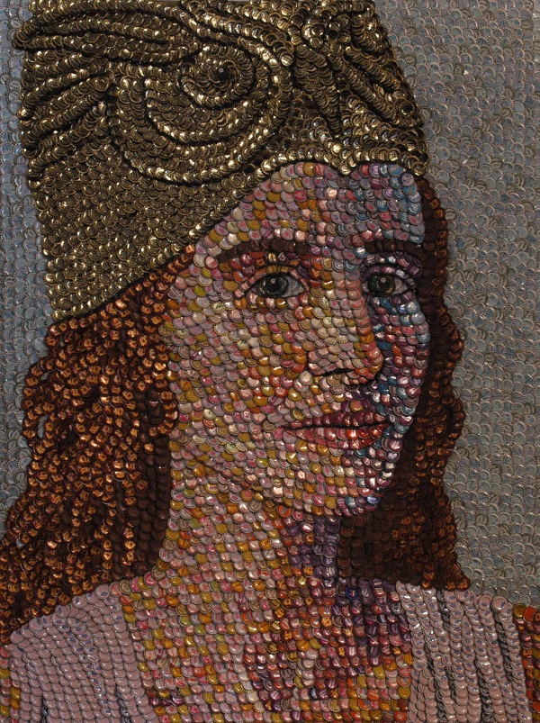 Minerva, Roman goddess of wisdom by artist Molly Right. Photo Credit: Molly Right.