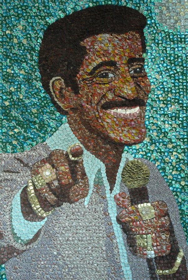 Sammy Davis Jr. by artist Molly Right. Photo Credit: Molly Right.
