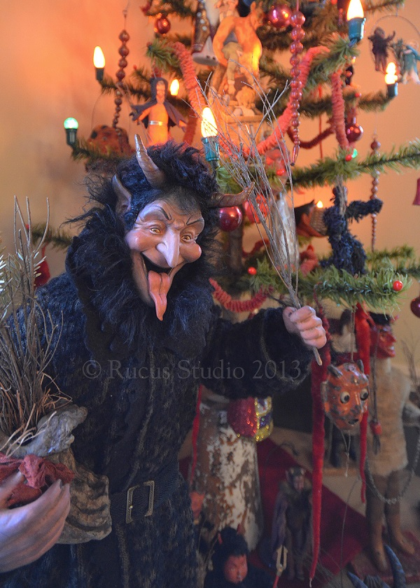 Krampus (a devil-like creature found in various European countries' folklore) by artist Scott Smith of Rucus Studio. Photo Courtesy of: Scott Smith/Rucus Studio.