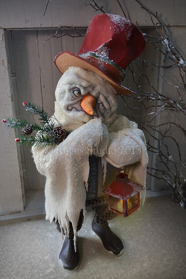 A snowman by artist Scott Smith of Rucus Studio. Photo Courtesy of: Scott Smith/Rucus Studio.
