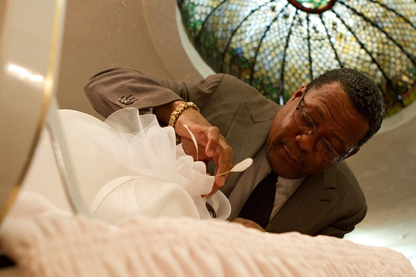 Isaiah Owens at his funeral home in New York City. Photo Credit: Marshall Stief.