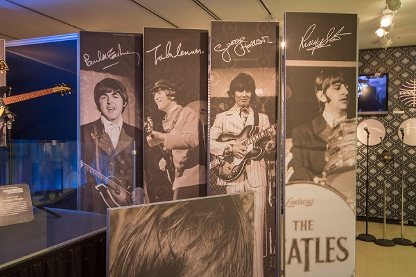 "The ""Ladies and Gentleman…The Beatles!"" exhibit at the NYPL. Photo Credit: Jonathan Blanc/The New York Public Library."