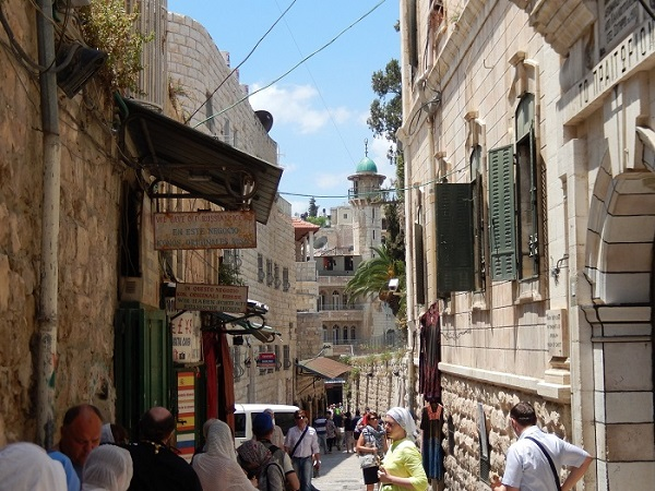 Said to be the path Jesus Christ took during his crucifixion, Via Dolorosa is among the most visited streets in the Old City of Jerusalem. Photo Credit: Benjamin Mack.