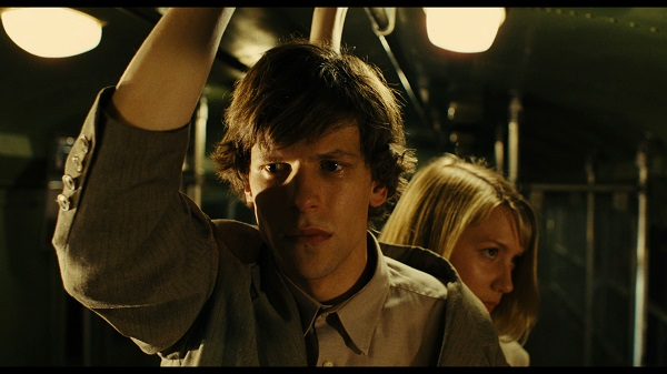 "Jesse Eisenberg and Mia Wasikowska in ""The Double,"" a Magnolia Pictures release. Photo courtesy of Magnolia Pictures. Photo credit: Dean Rodgers."