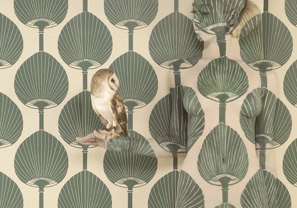 """Wallpaper Owl"" in the Birds of Prey collection by Emma Hack. Photo Credit: Emma Hack."