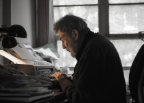 "Nat Hentoff at work in his office in Greenwich Village, 2010, as seen in David L. Lewis' documentary ""The Pleasures of Being out of Step: Notes on the Life of Nat Hentoff."" A First Run Features release. Photo Credit: David L. Lewis."