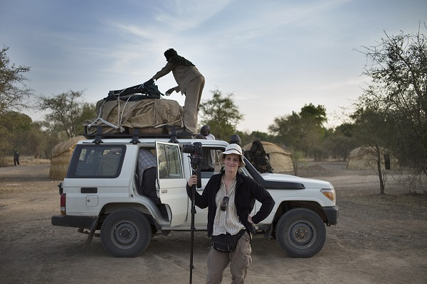 US Photojournalist Kate Brooks in Zakouma, February 26, 2014. AFP Photo/Marco Longari. Photo courtesy of Kate Brooks.