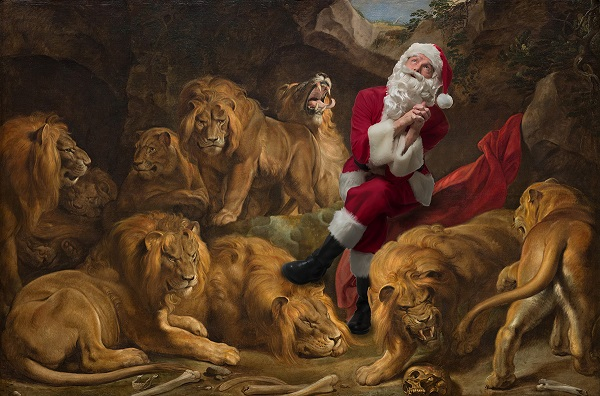 "Ed Wheeler recreates Peter Rubens' ""Daniel in the Lions' Den."" Photo Credit: Ed Wheeler."