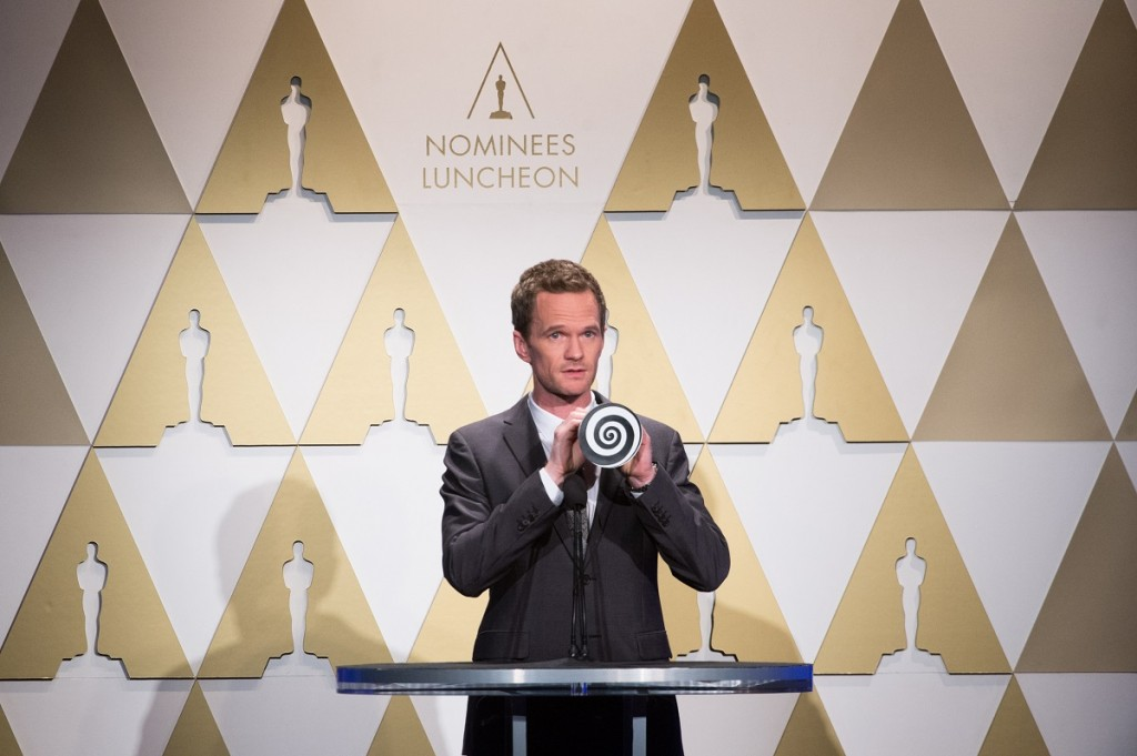 Oscar® host Neil Patrick Harris at the Oscar® Nominees Luncheon in Beverly Hills Monday, February 2, 2015. Photo Credit: Phil McCarten / ©A.M.P.A.S.
