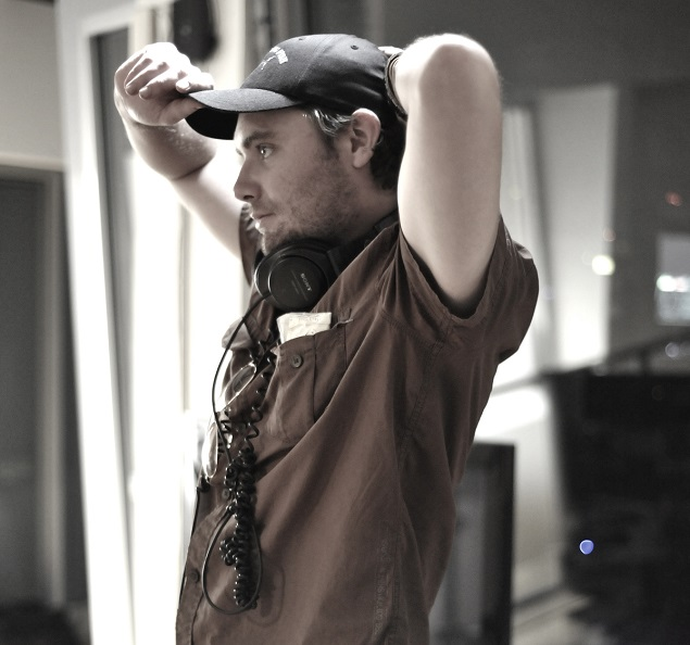 "Filmmaker Brad Saville on the set of ""Regretting Fish."" Photo Credit: Brad Saville."