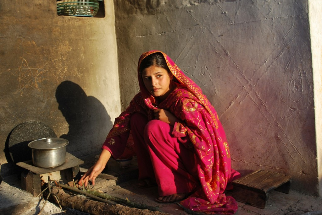 "Pictured: The heroine Zarina, married and expecting in ""Among the Believers."" Photographer: Adil Sheryar"