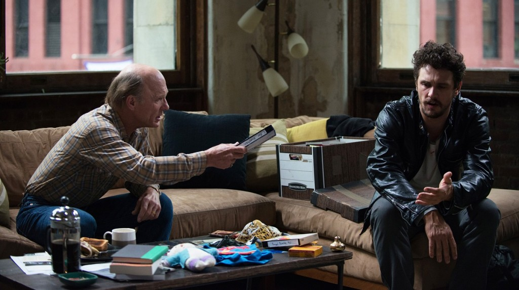 "Stephen Elliott (James Franco) and Neil Elliott (Ed Harris) in ""The Adderall Diaries."" Photo: Anna Kooris/TFF."
