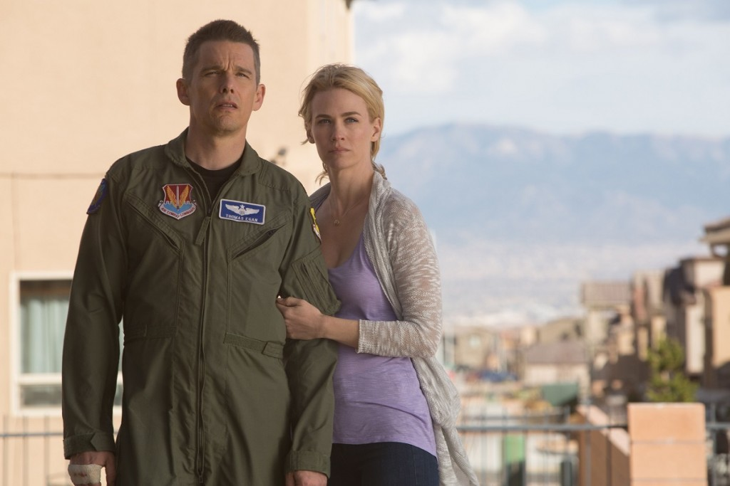 "Ethan Hawke and January Jones in ""Good Kill."" Photo: Lorey Sebastian. (C) 2014 Clear Skies Nevada LLC. An IFC Films release."