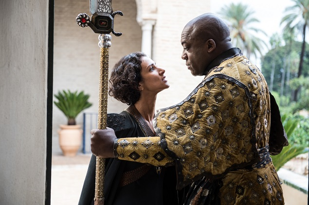 Indira Varma, Deobia Oparei/. Photo: Macall B. Polay/courtesy of HBO.