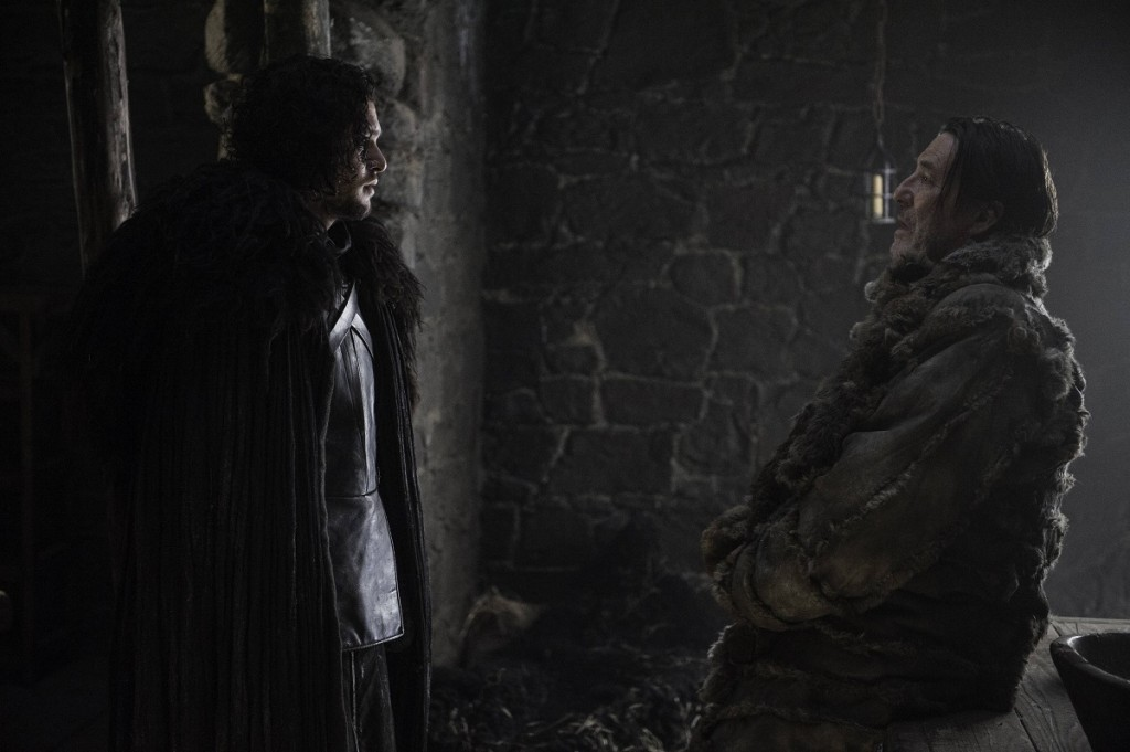 Kit Harington as Jon Snow, Ciaran Hinds as Mance Rayder. Photo Credit: Helen Sloan/courtesy of HBO.