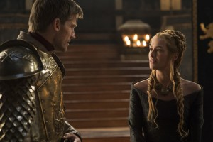 Nikolaj Coster-Waldau and Lena Headey as Jaime and Cersei Lannister. Photo Credit: Helen Sloan/courtesy of HBO.