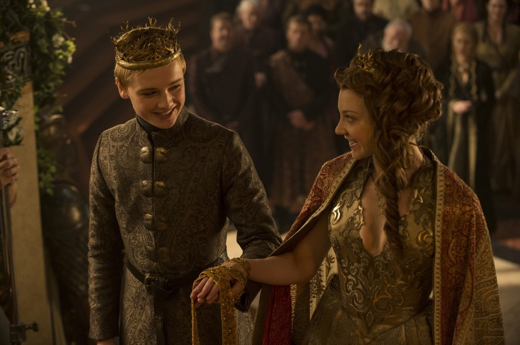 Game of Thrones season 5, episode 3: Dean-Charles Chapman, Natalie Dormer. Photo: Helen Sloan/courtesy of HBO.