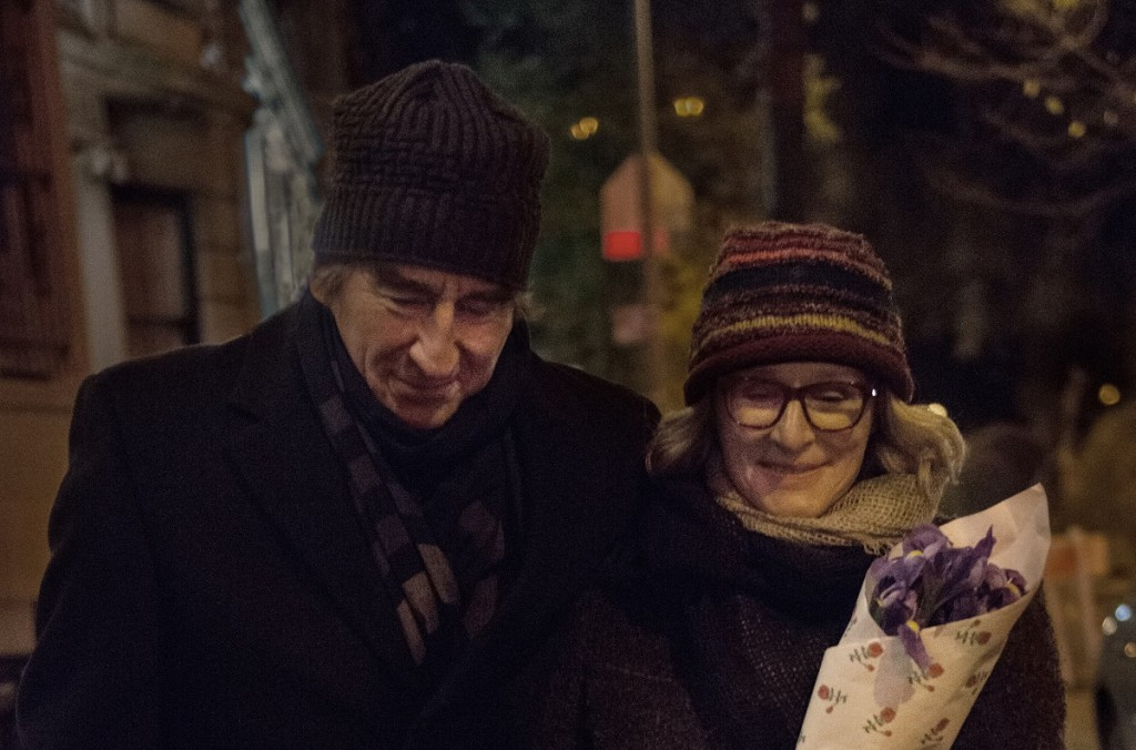 "Sam Waterston as Walter Zarrow and Glenn Close as his wife Marcia on the Upper West Side of Manhattan in Tim Blake Nelson's ""Anesthesia."" Photo: Anna Kooris."