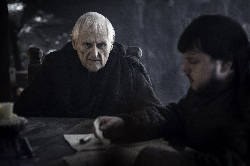 """Game of Thrones"" season 5, episode 5: Peter Vaughan, John Bradley. Photo: Helen Sloan/courtesy of HBO."