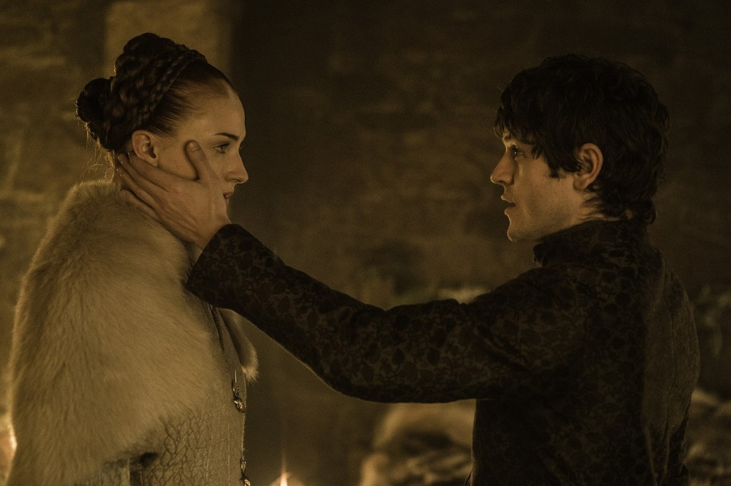 "Sophie Turner and Iwan Rheon in ""Game of Thrones"" Season 5, episode 6. Photo: Helen Sloan/courtesy of HBO."