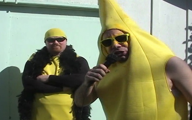 """The bunch of Bananas in happier times"" from ""Bodyslam: Revenge of the Banana."" Photo: Luke Keyes."