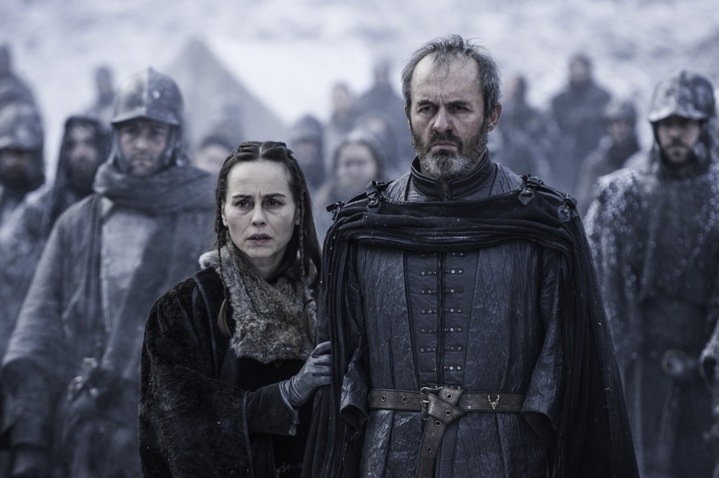 Tara Fitzgerald and Stephen Dillane star in 'Game of Thrones' season 5, episode 9. Photo: Helen Sloan/courtesy of HBO.