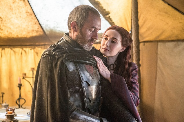 Stephen Dillane and Carice van Houten star in Game of Thrones' Season 5, episode 10. Photo: Helen Sloan/courtesy of HBO.