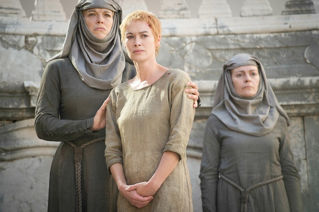 Lena Headey stars in Game of Thrones' Season 5, episode 10. Photo: Helen Sloan/courtesy of HBO.
