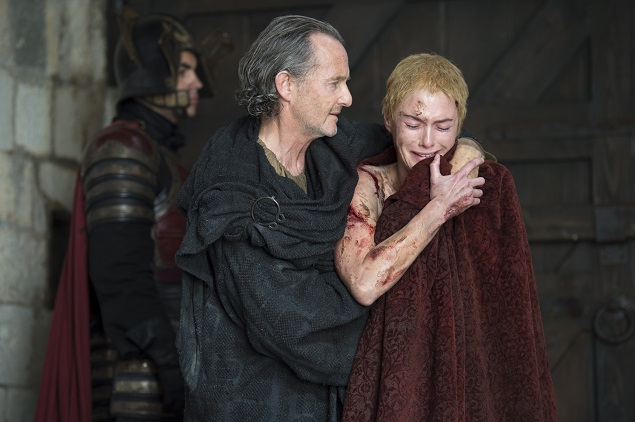 Anton Lesser and Lena Headey star in Game of Thrones' Season 5, episode 10. Photo: Helen Sloan/courtesy of HBO.