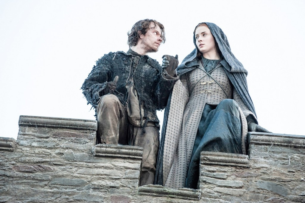 Alfie Allen and Sophie Turner star in Game of Thrones' Season 5, episode 10. Photo: Helen Sloan/courtesy of HBO.