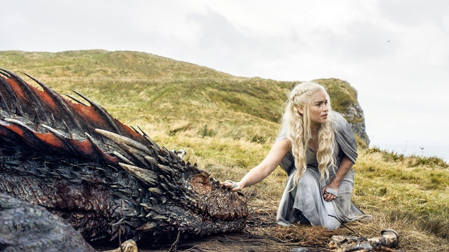 Emilia Clarke stars in Game of Thrones' Season 5, episode 10. Photo: Helen Sloan/courtesy of HBO.