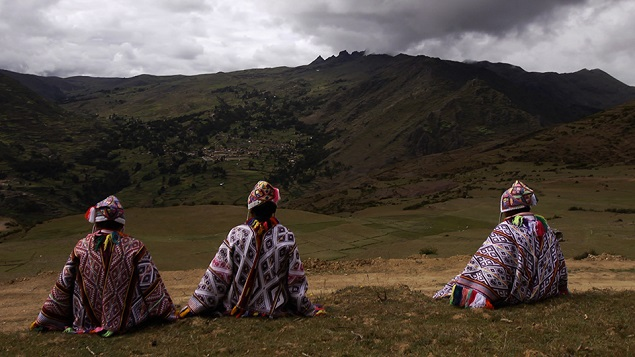 Peruvians on the hill top. Photo Credit: Henrik Edelbo.