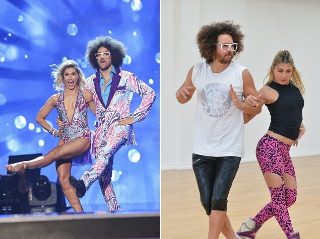 Emma Slater and Redfoo on ABC's Dancing with the Stars. Photo: ABC/Adam Taylor.