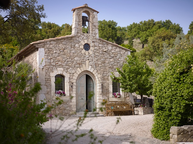 A church on Johnny Depp's estate. Photo Credit: Cote d'Azur Sotheby's International Realty.