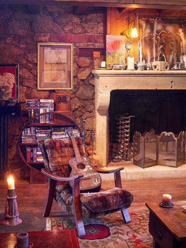 Inside Johnny Depp's estate. Photo Credit: Cote d'Azur Sotheby's International Realty.