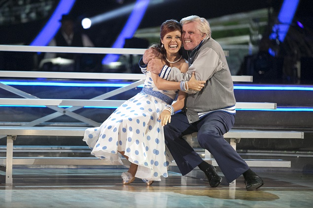 Episode 2102: Gary Busey and Anna Trebunskaya in Season 21 of ABC's Dancing with the Stars. Photo Credit: ABC/Adam Taylor.