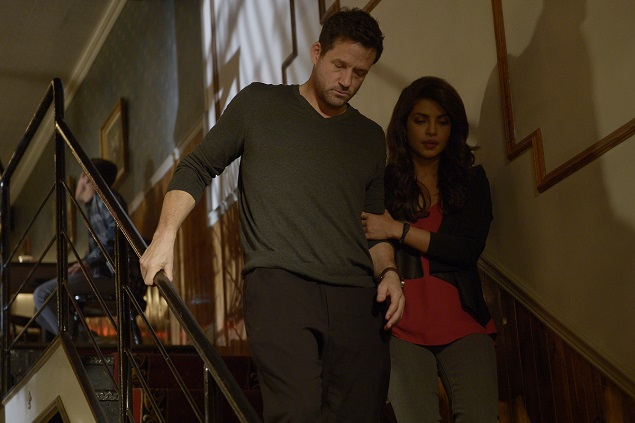 Josh Hopkins and Priyanka Chopra star in ABC's Quantico. Photo Credit: ABC/Phillippe Bosse.